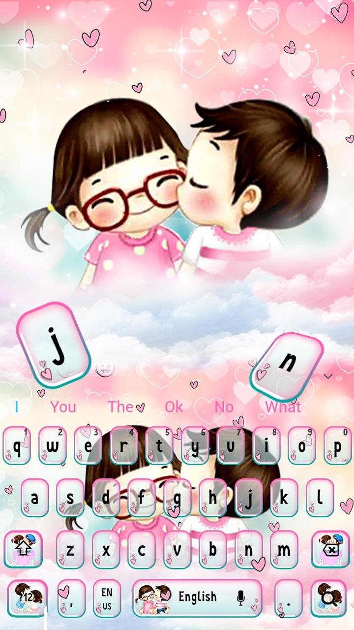 Cute Anime Couple Keyboard Theme