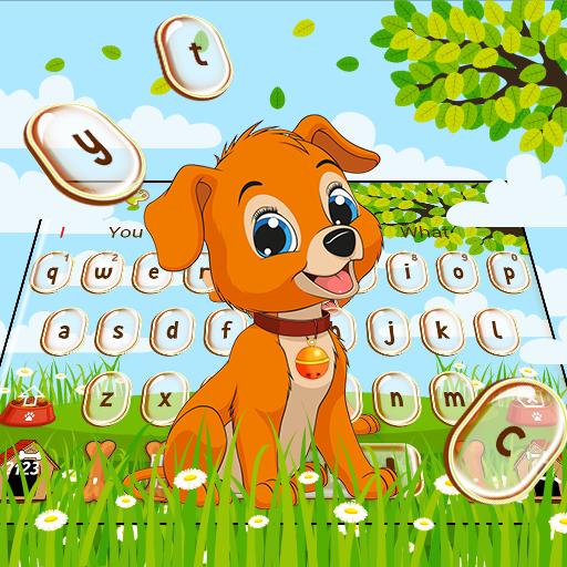 Cute Anime Dog Keyboard Theme
