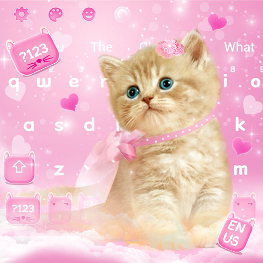 Cute Pink Lovely Kitty Keyboard Theme