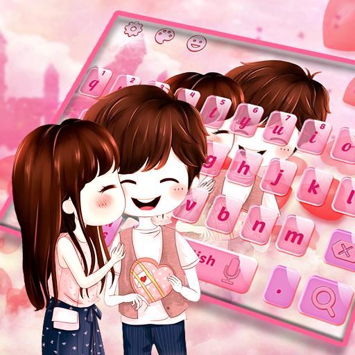 Cute Romantic Love Couple Keyboard