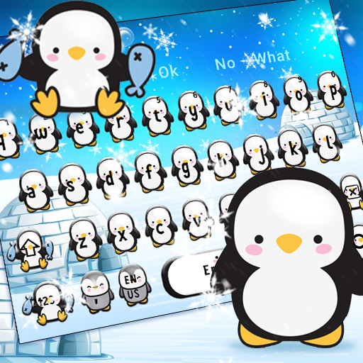 Cute Snow Penguin Keyboard Theme