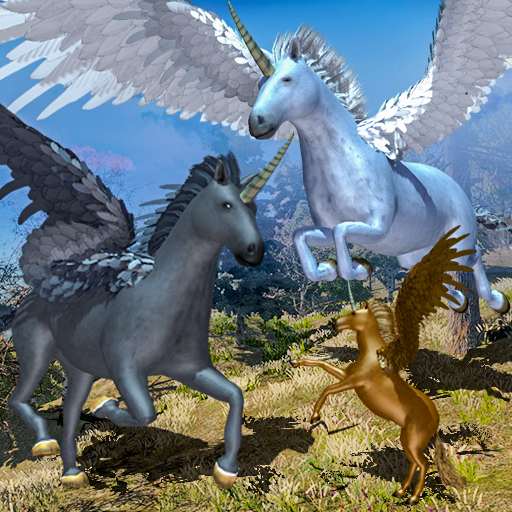 Flying Unicorn Horse Family Jungle Survival