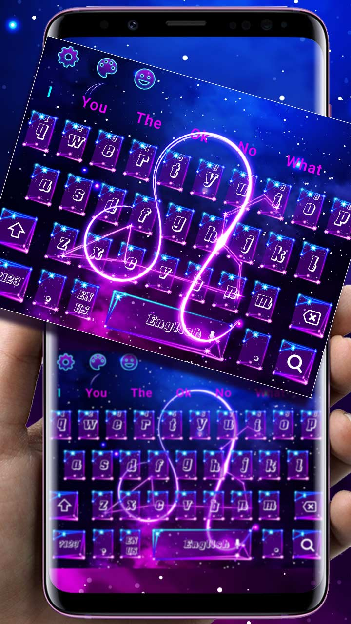 Galaxy Zodiac Sign Keyboard Theme