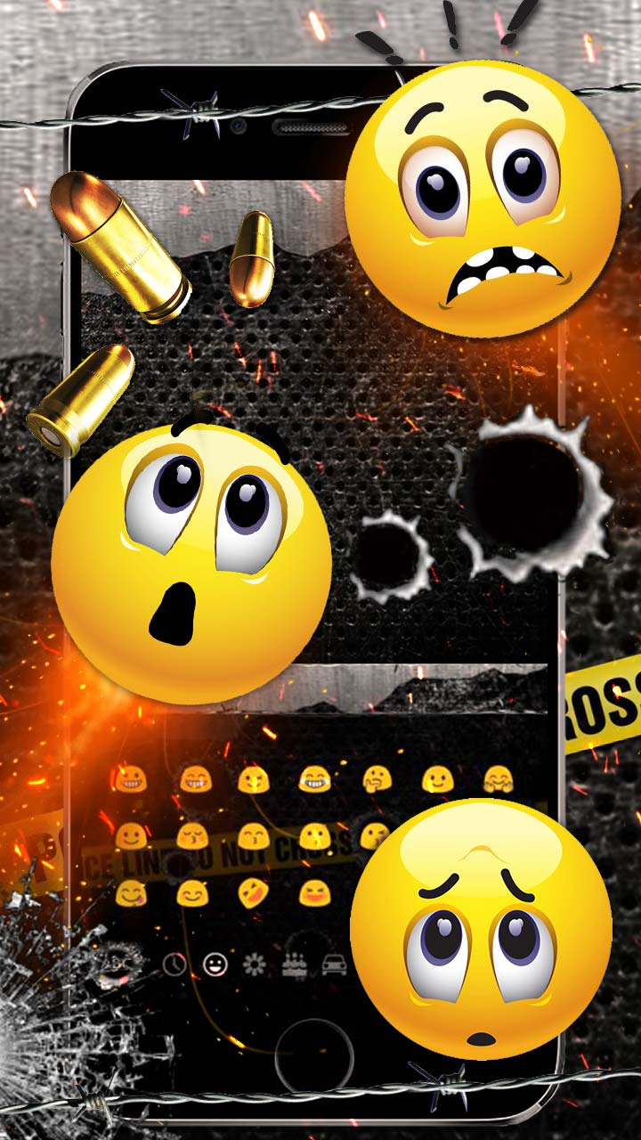 Golden Bullet Gun Shot Keyboard Theme