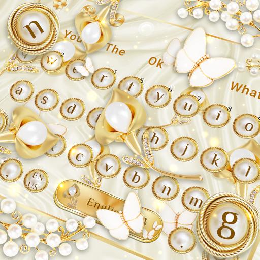 Golden Silk Diamond Pearl Keyboard