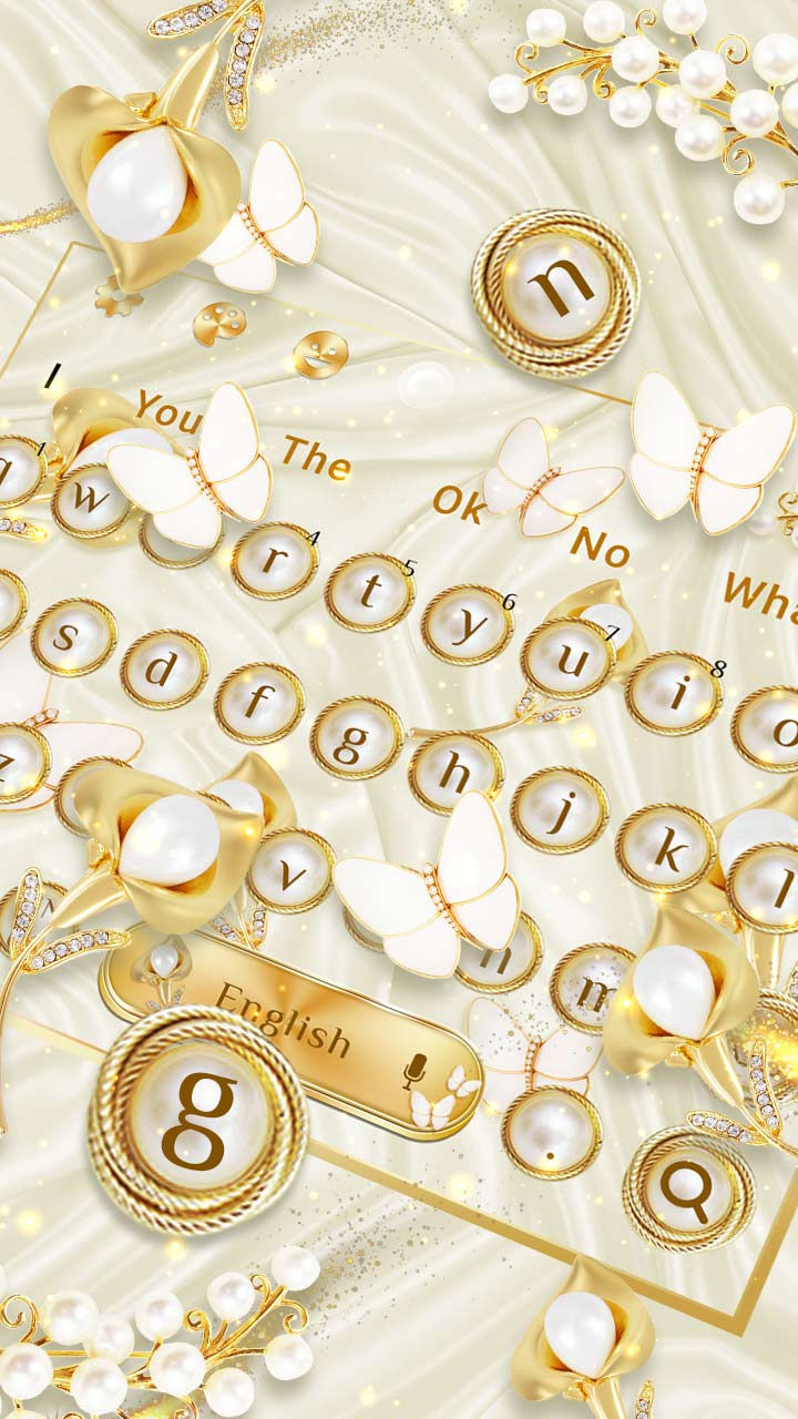 Golden Silk Diamond Pearl Keyboard