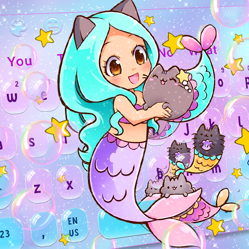 Kawaii Anime Mermaid Keyboard Theme