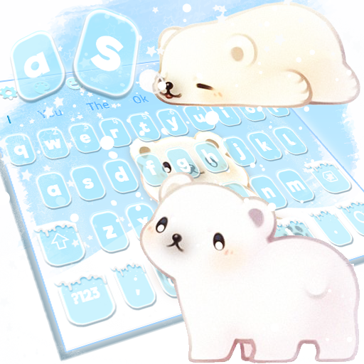 Lovely Anime Polar Bear Keyboard Theme