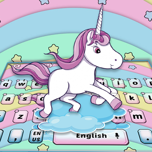 Lovely Colorful Rainbow Unicorn Keyboard