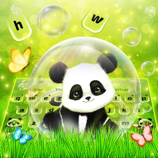 Lovely Cute Bubble Panda Keyboard