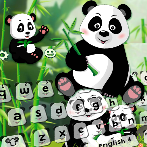 Lovely Cute Panda Keyboard Theme