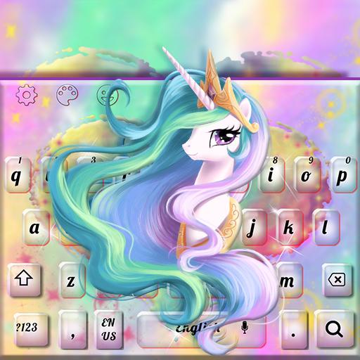 Lovely Pink Unicorn Keyboard Theme