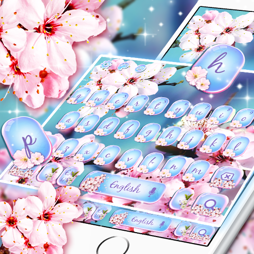 Lovely Spring Cherry Blossom Keyboard
