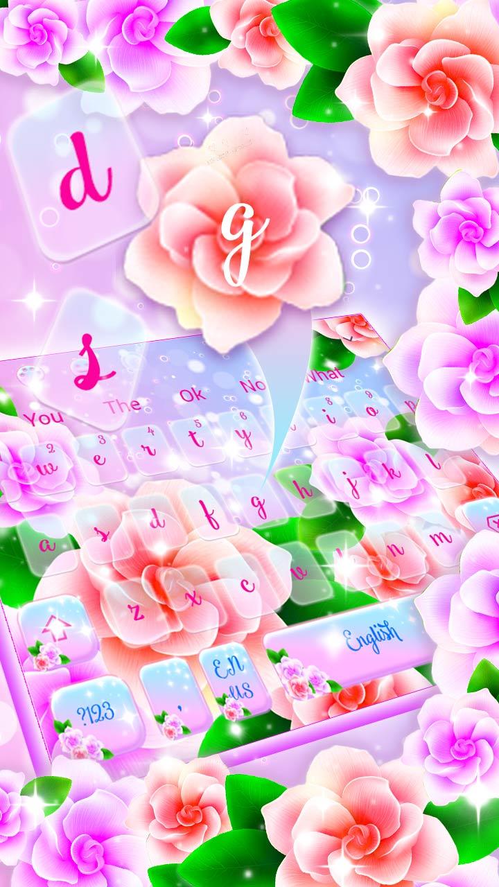 Lovely Spring Flower Keyboard Theme