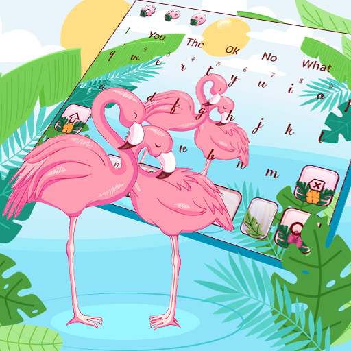 Pink Flamingo Keyboard Theme