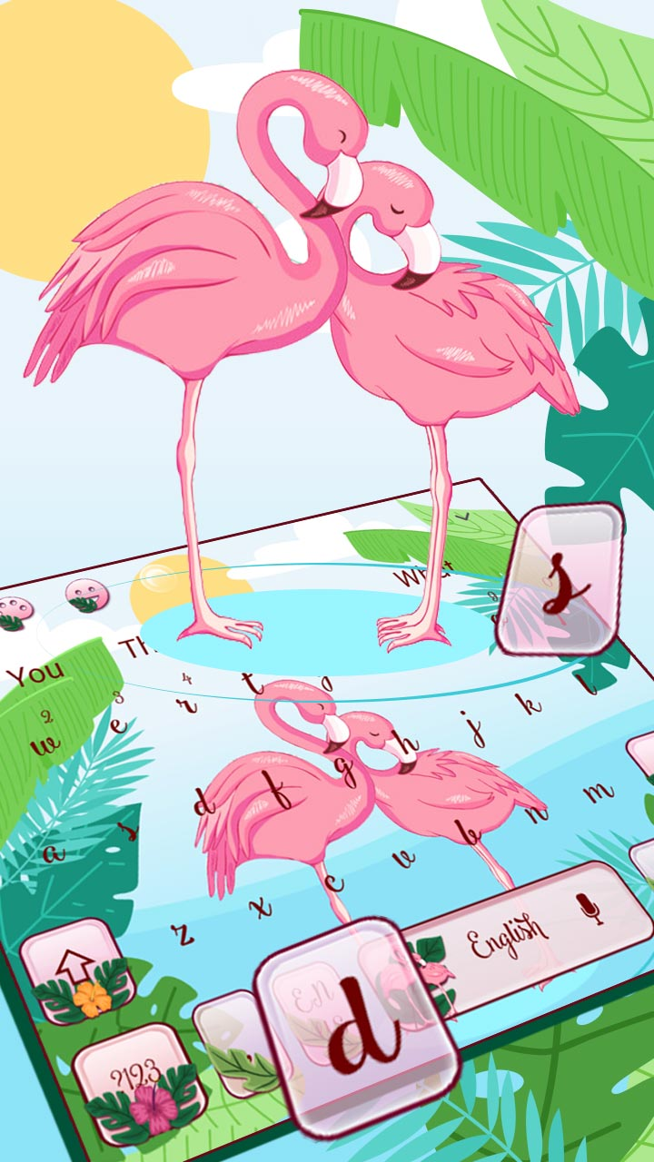 Pink Flamingo Keyboard Theme