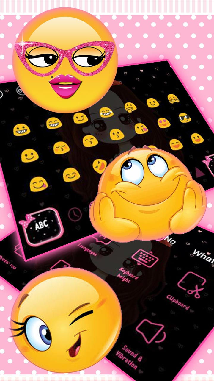 Pink Pretty Girl Keyboard Theme