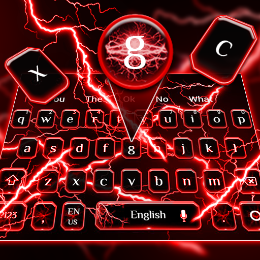Red Thunder Keyboard Theme