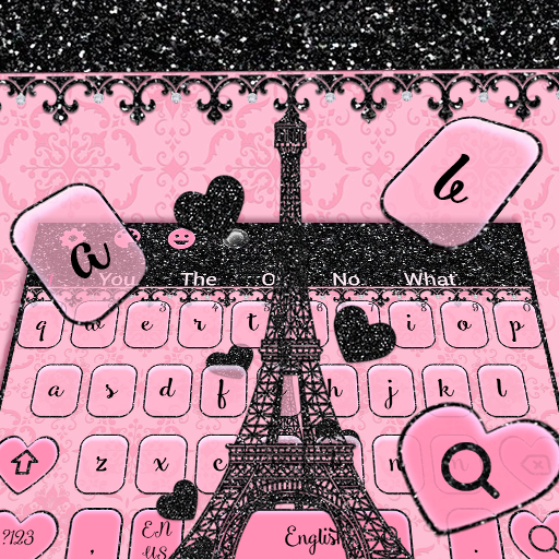 Rose Pink Paris Eiffel Tower Keyboard
