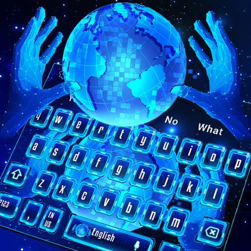 Simple Blue Hi-Tech Keyboard Theme