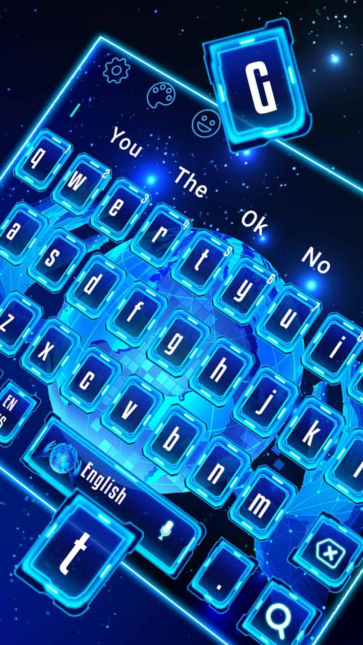 Simple Blue Hi-Tech Keyboard Theme