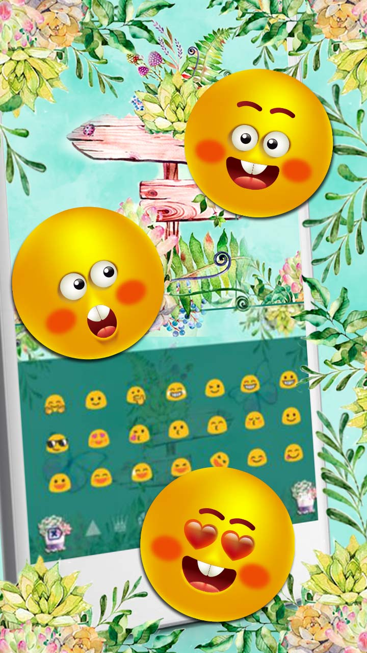 Sms Flower Garden Keyboard Theme
