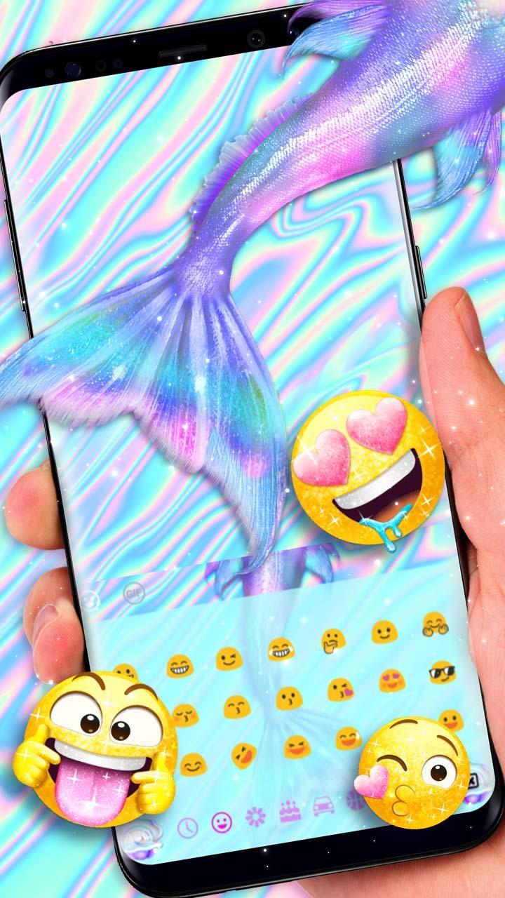 Sparkling Love Hologram Mermaid Keyboard