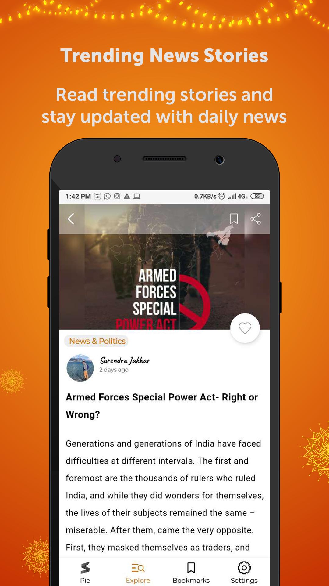 StoryPie - Daily News Stories & Latest News App
