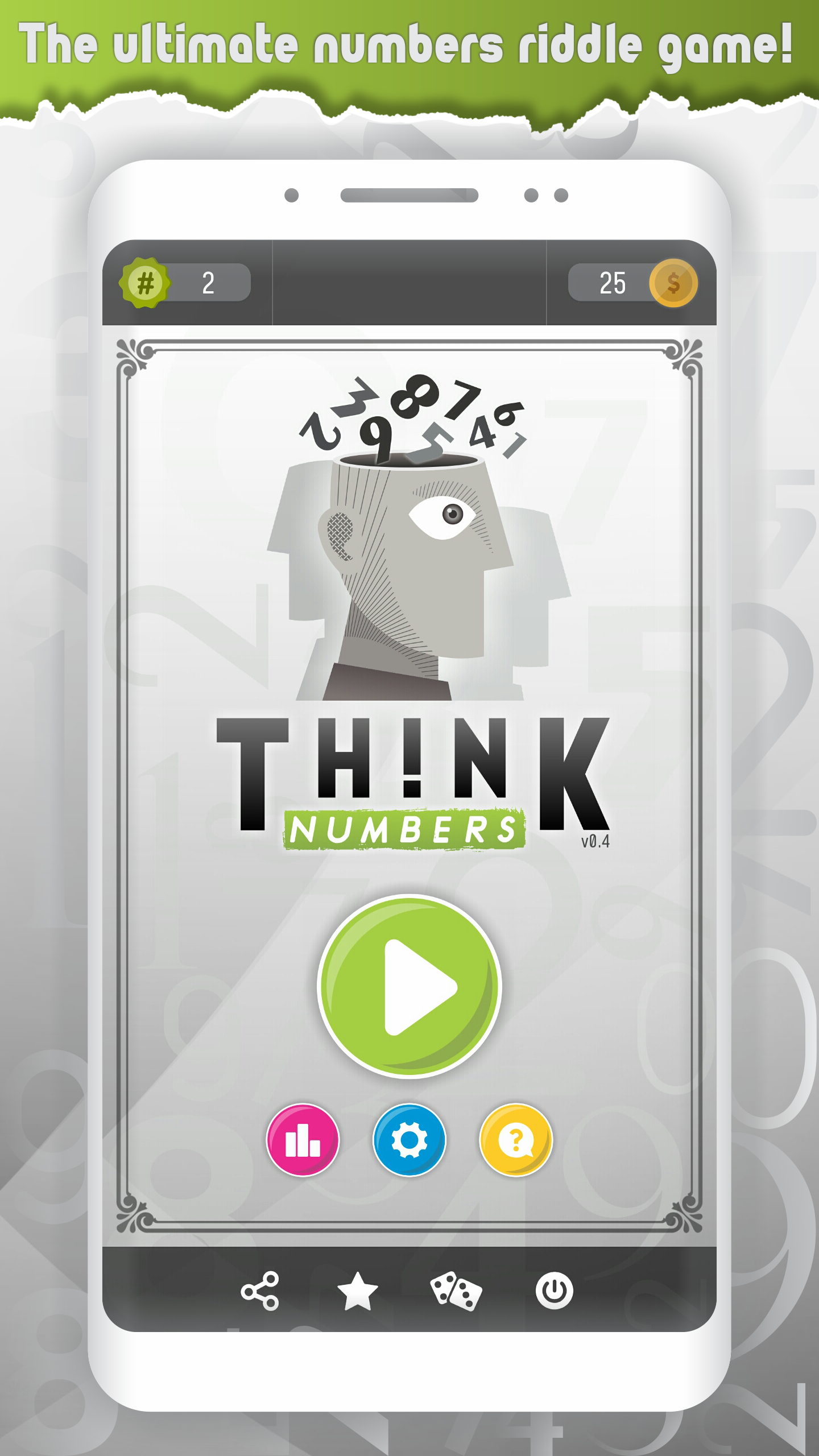 Think Numbers - Ditloid word riddle quiz
