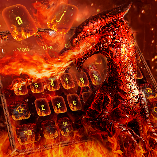 War Of Red Fire Dragon Keyboard Theme