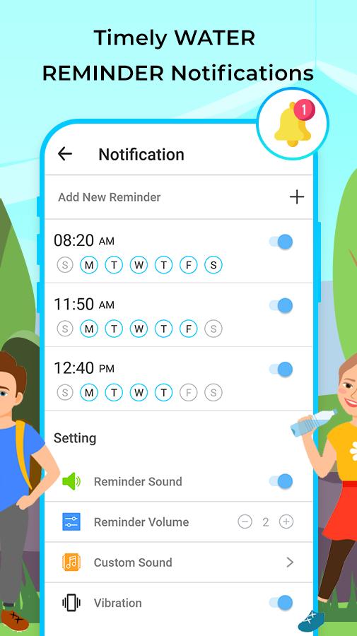 Water Tracker: Water Drinking Reminder App