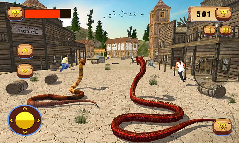 Anaconda Snake Family Jungle RPG Sim