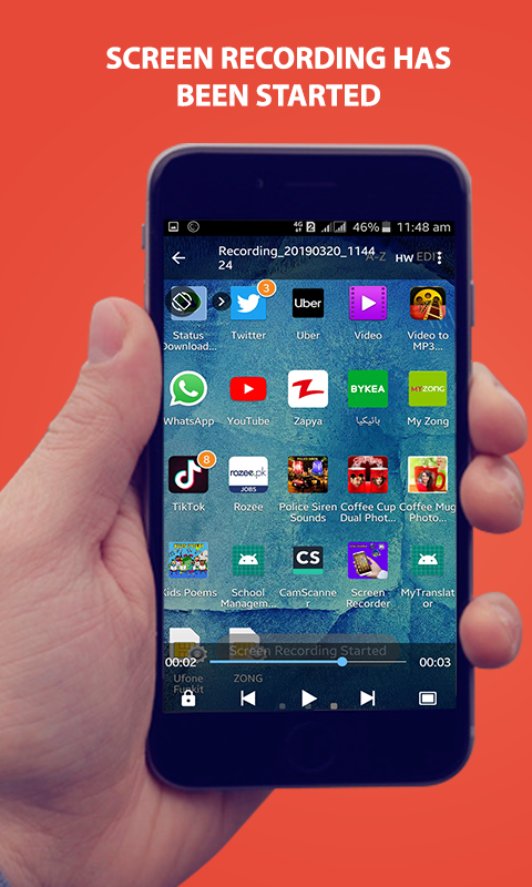 Capture Screens –Screen Video Recorder Screenshot