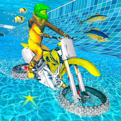 Underwater Bike Flying Stunts: Impossible Ramps