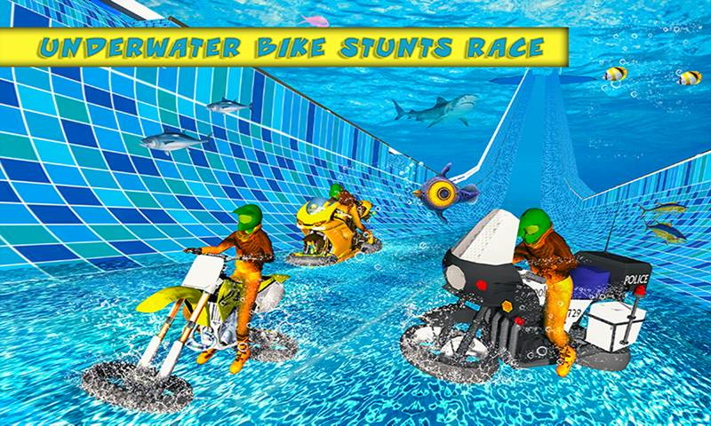 Underwater Bike Flying Stunts: Impossible Ramps