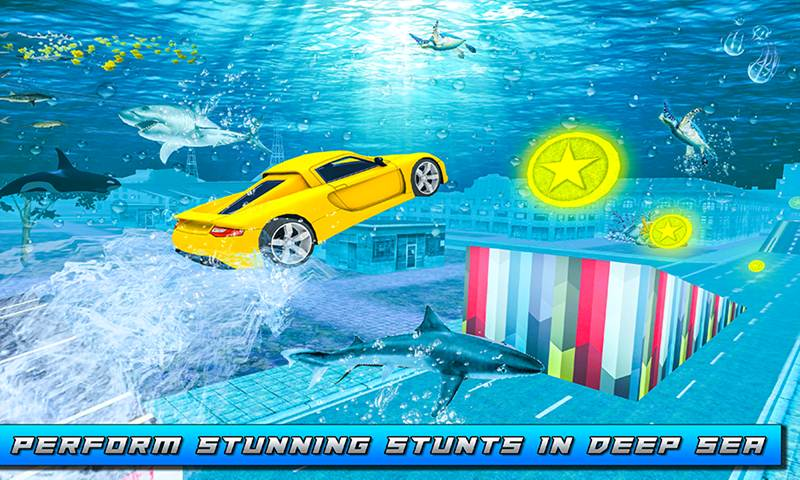 Underwater City Ultimate Flying Car Stunt