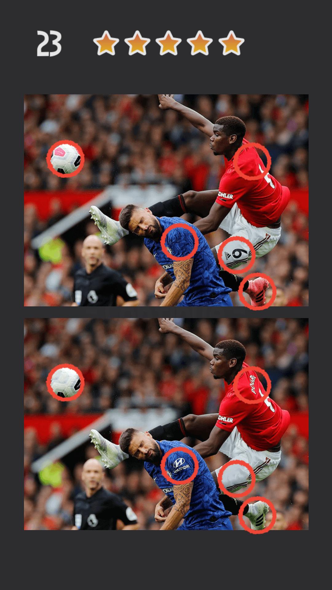Spot the Differences - EPL Premier League 2019-20