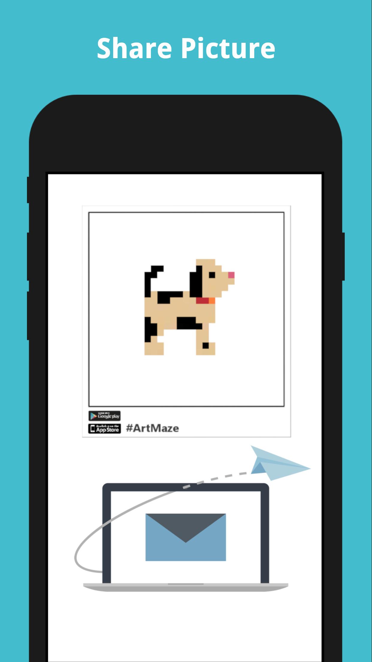 Art Maze - beautiful pixel art game