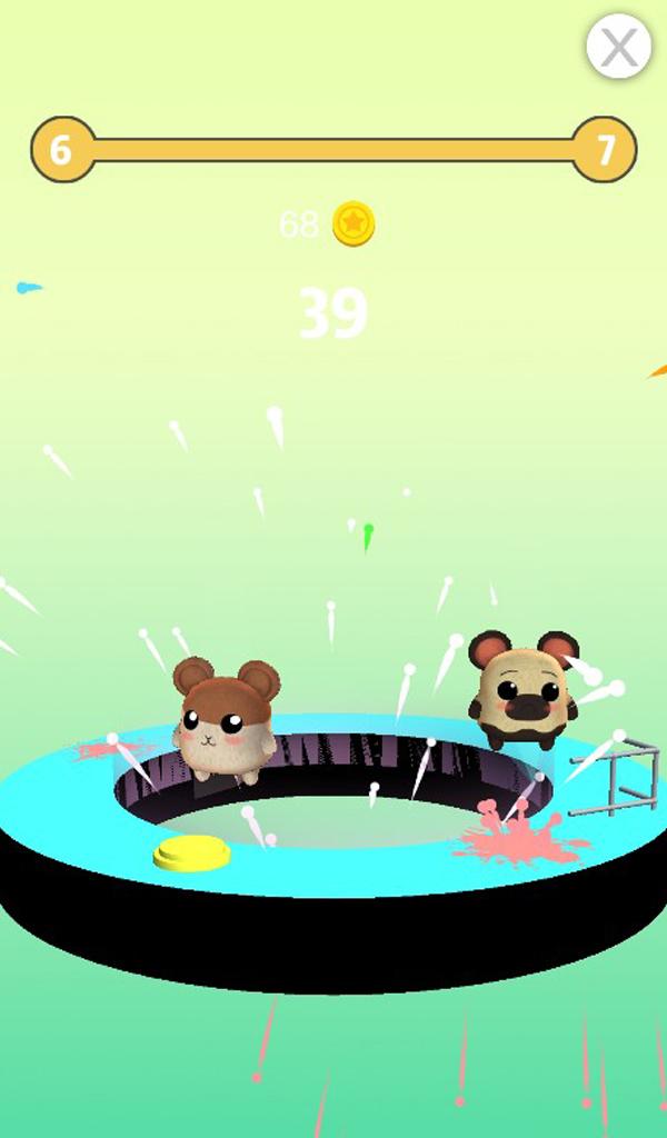 Hamster Rescue - Cute Hamster Drop Helix 3D Games