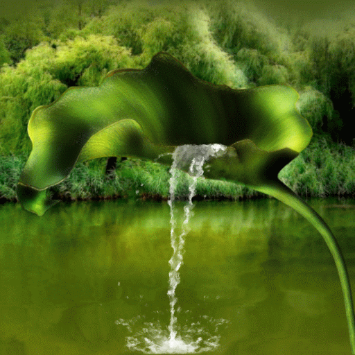 Leaf Fountain Live Wallpaper