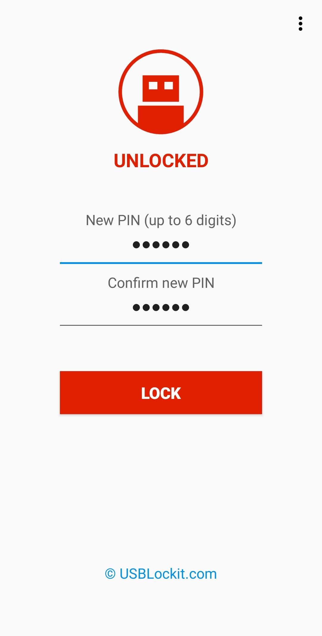 USB Lockit - Password Lock USB Drive