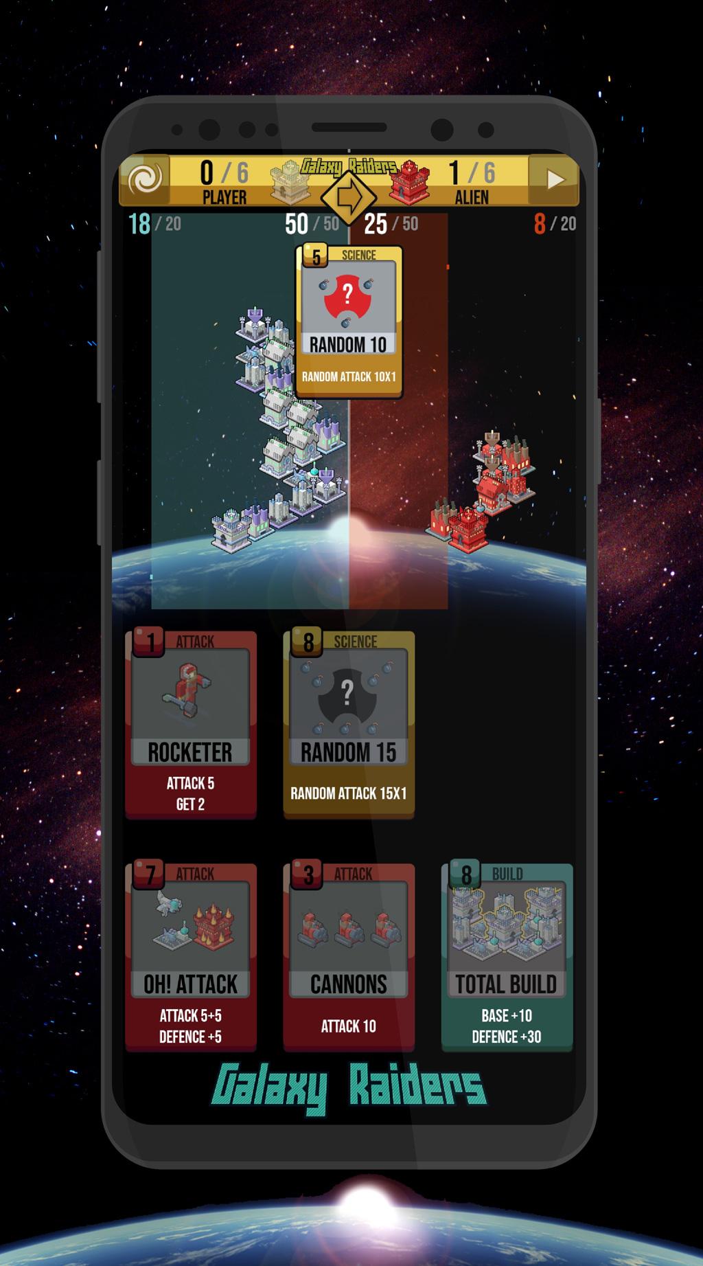 Galaxy Raiders Cards