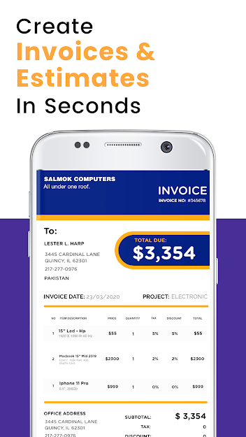 Invoice Maker - Create Invoices & Billing Receipt