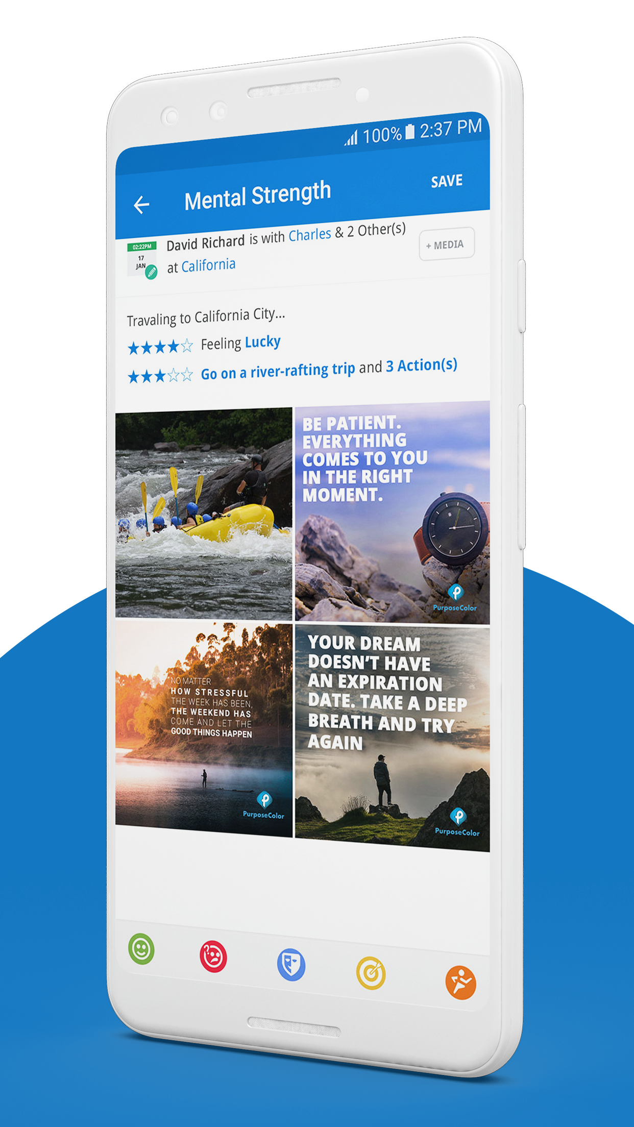 PurposeColor: Goal Setting & Motivation App