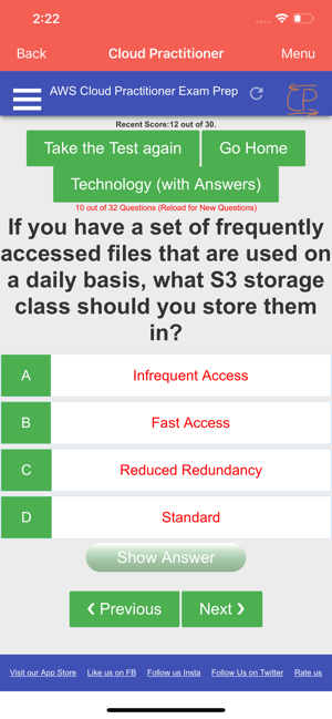 AWS Certified Cloud Practitioner Prep Quiz