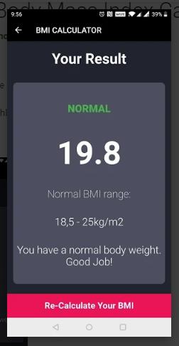 BMI – Body Mass Index Calculator