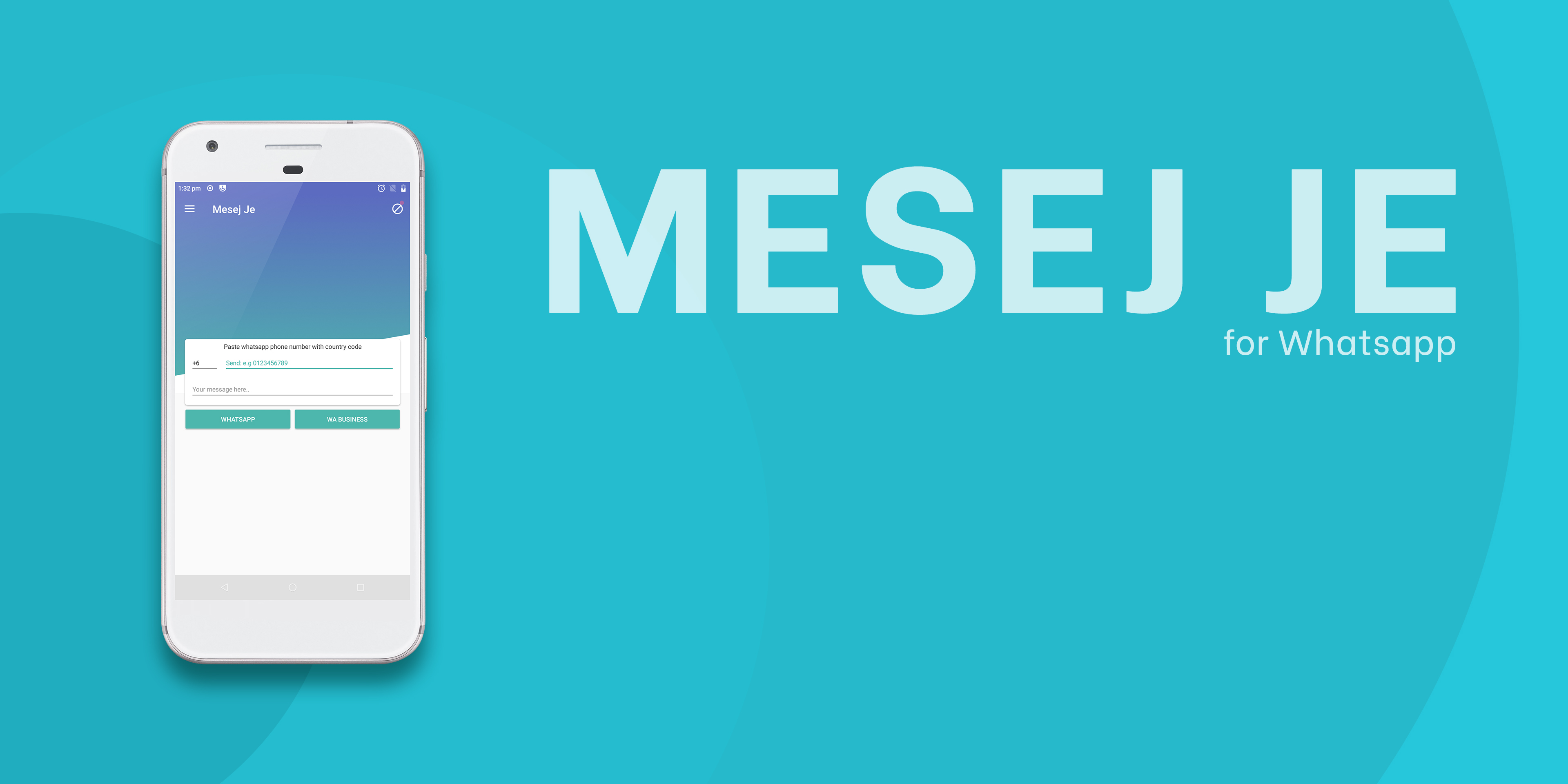 Mesej Je: Instant Chat & Tool for Whatsapp
