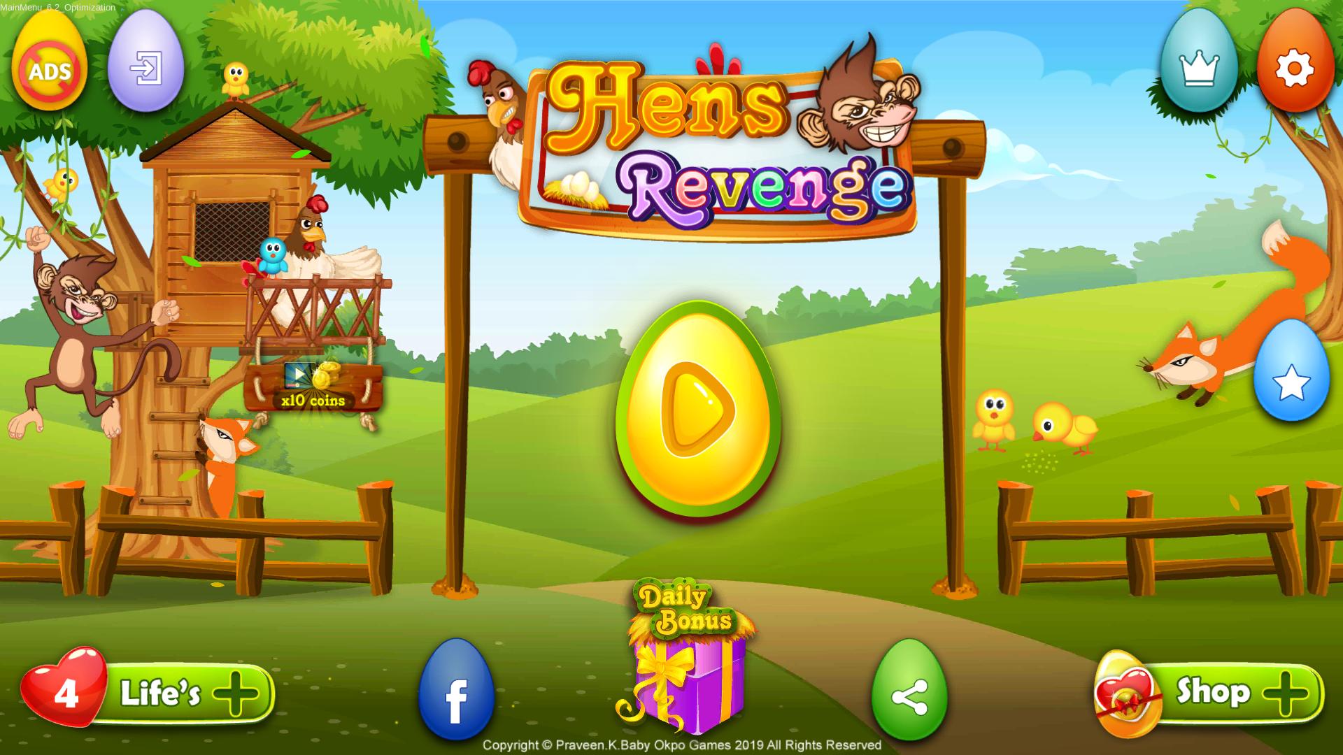Hen's Revenge® - Play Free Chicken Game