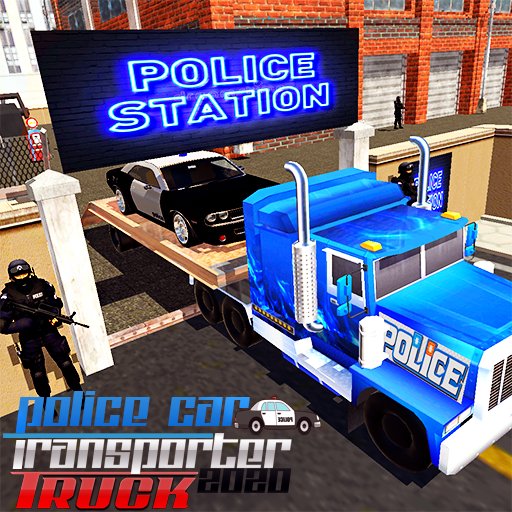 US City Police Car Transporter Truck Driver 2020