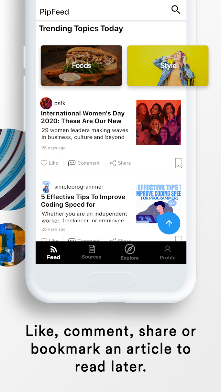 PipFeed.com: A.I. powered Reading app